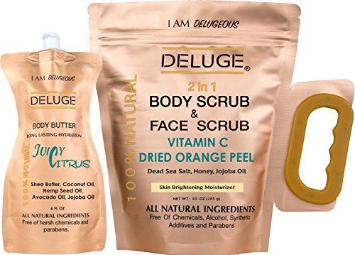vitamin-c-scrub-dried-orange-peel-dead-sea-salt-honey-and-jojoba-oil-10-oz-body-butter-6-0z