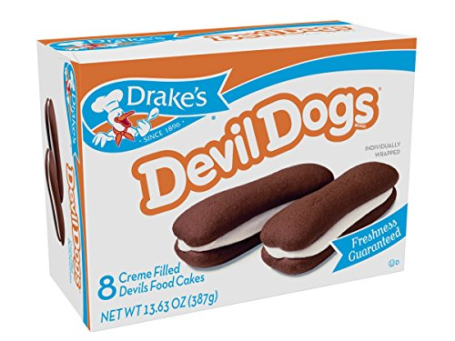 Drakes Devil Dogs 16-creme Filled Devils Food Cakes, 26.5 Oz by Drake's