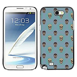 iKiki-Tech Estuche rígido para Samsung Galaxy Note 2 N7100 - Bland Skull