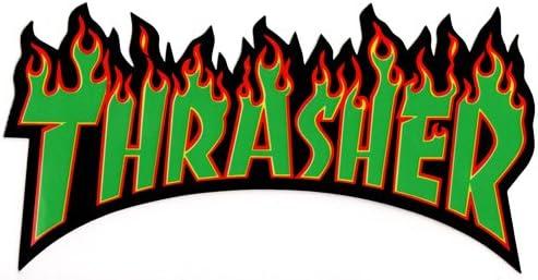 Thrasher Flame Large Rasta Sticker kaufen