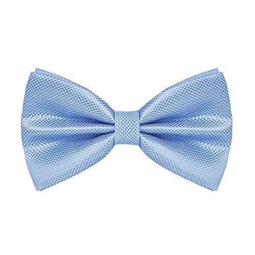 DEVPSISR Mens Classic Pre-Tied Solid Formal Tuxedo Bowtie Adjustable Length (Light blue)