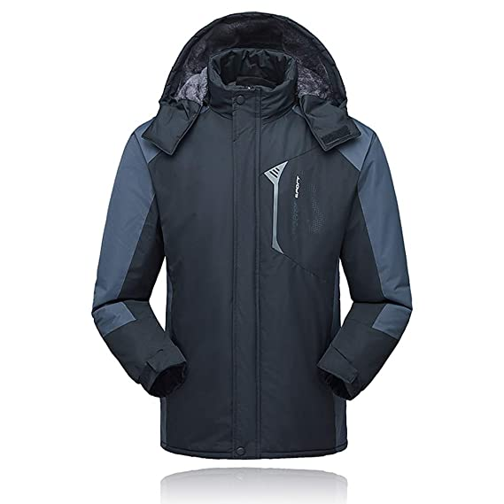 Lixada Hombres Chaqueta de Esquí Impermeable a Prueba de Viento de Lana Abrigo Invierno Deportivo para Senderismo Esquiar