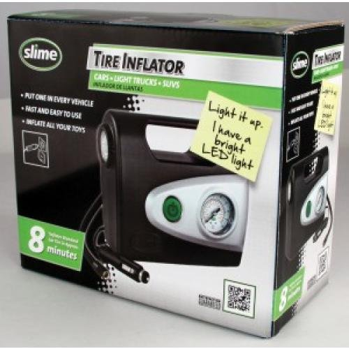 Slime 40050 Tire Inflator (12-V with Gauge and Light) by Slime (Image #1)