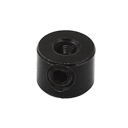 sourcingmap/® 8mm Internal Dia Woodworking Drill Bit Depth Stop Collar Black