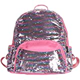 Zumd Sequin Woman School Backpack/Daily Backpack (Pink)