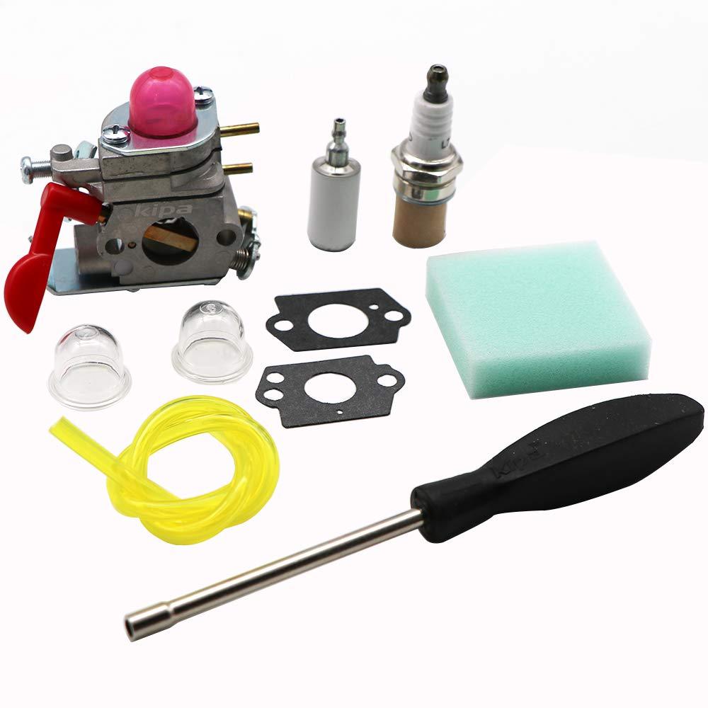 KIPA Carburetor Maintence Kit for Poulan Husqvarna 530071811 P4500 P4500E PP26E PP025 PP125 PP258TP PP258TPC PP325 SM705 SM706 Trimmer Pole Pruner ZAMA C1U-W19 358.791530 25cc Craftsman Weedeater by KIPA