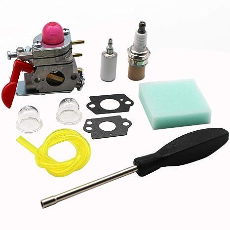 KIPA Carburetor Maintence Kit for Poulan Husqvarna 530071811 P4500 P4500E  PP26E PP025 PP125 PP258TP PP258TPC PP325 SM705 SM706 Trimmer Pole Pruner
