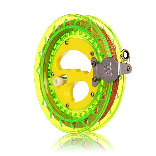 Reels Motorized (HAPPYTOY Kite Reel Winder Kite String Handle Reel [Lock-on] with Line - 1000ft Durable String (Green - Yellow))