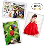"20 Pack 2.5 X 3.5"" Magnetic Picture Frames for 2 1/2..."