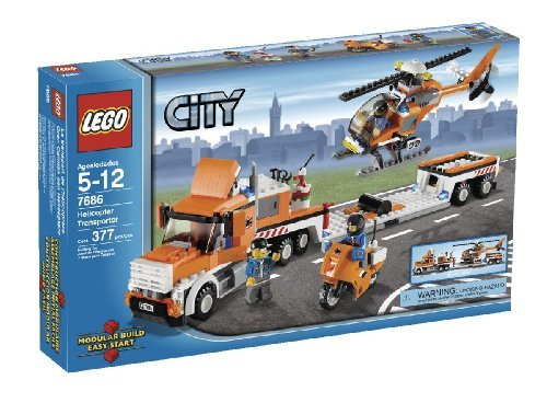 LEGO 7686 City Helicopter Transporter (Lego City helicopter transport vehicles)
