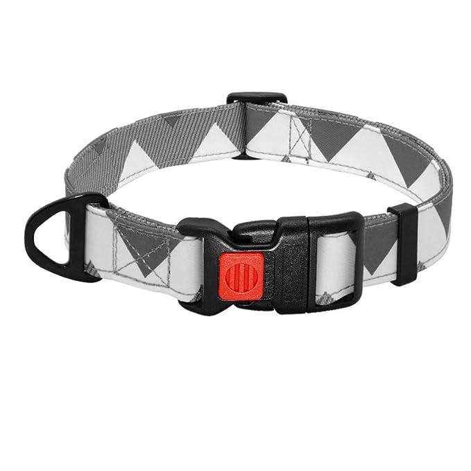 MAOBANG Collar Collar de Nylon para Perros Hebilla de Seguridad ...