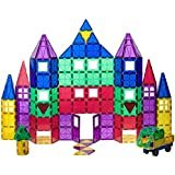 Playmags 100 + 18 Piece Set: Now with Stronger Magnets, Sturdy,Super Durable with Vivid Clear Color Tiles. 18...