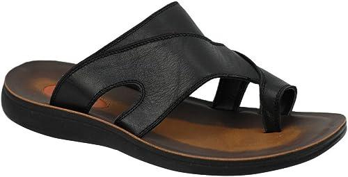 Dark Brown Unisex Genuine Leather Flip Flops Slippers Sandals Stylish Design Handmade 7 US