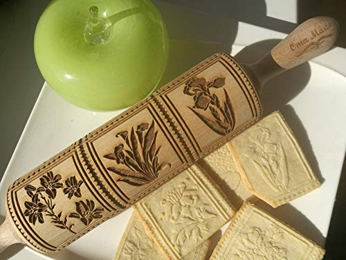 Springerle rolling pin Springerle cookie molds Springerle cookies German cookies Springerle carved rolling pin,Christmas gifts,Gift for mom