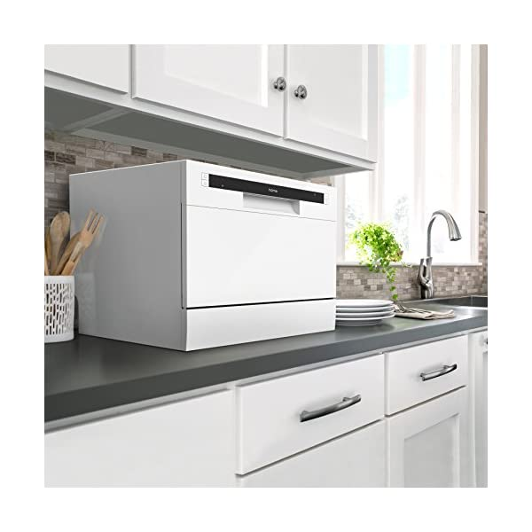 hOmeLabs Compact Countertop Dishwasher - Energy Star Portable Mini Dish  Washer in Stainless Steel Interior for Small Apartment Office and Home  Kitchen ...