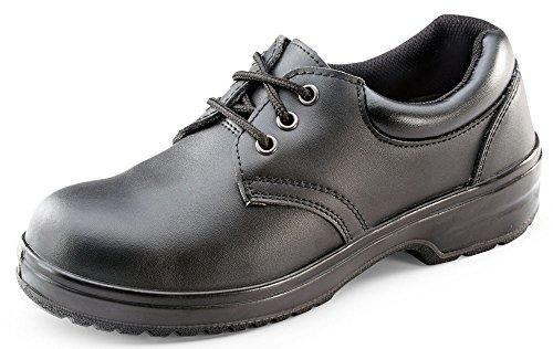 ClickFootwear - Calzado de protección de Piel para mujer Black