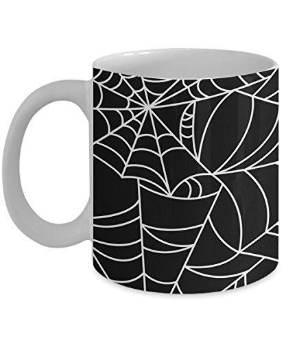 Spider Web Mug 11oz - Giant Spider Web - Creepy Coffee Mug
