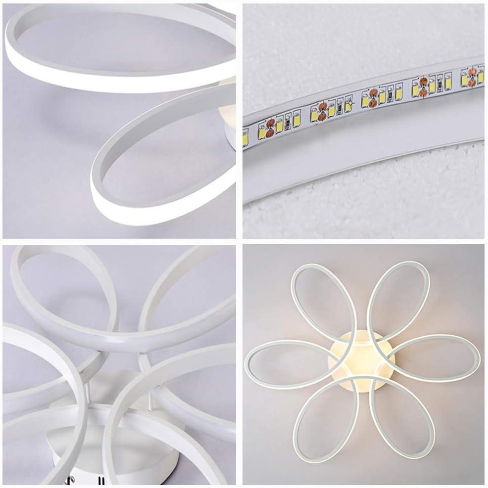 Acrylique Abat Lampe Blanc Aluminium Corps Lampe Moderne Creative Fleur De Plafond en Forme RHTCEN Plafonnier De LED 3000K Lumi/ère Chaude 75W 6000lm /Φ58 * H10cm Classe /Énerg/étique A ++