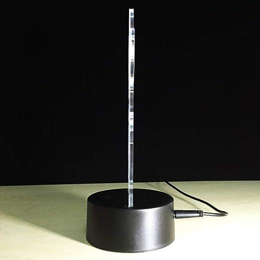 PDDXBB Novedad 3D Led USB Illusion Led RGB Lámpara Táctil 7 ...
