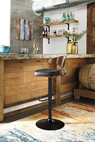 OKSLO Bellatier tall upholstered swivel adjustable height barstool
