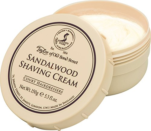 Taylor of Old Bond Street Sandalwood Shaving Cream Bowl, - Silk Set Soap
