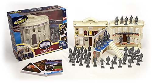 Kid Galaxy White House, U.S. Presidents Flash Cards, Presidential Figures Educational Playset