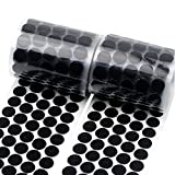 Self-Adhesive Dots 1000 PCS (500 Pairs) Sticky Coins 3/4 inch Hook and Loop Dots with Sticky Back DIY Component for Crafts (Black)