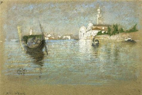 'James McNeill Whistler - The Cemetery Venice, 1879' Oil Painting, 10x15 Inch / 25x38 Cm ,printed On High Quality Polyster Canvas ,this High Quality Art Decorative Canvas Prints Is Perfectly Suitalbe For Hallway Decoration And Home Gallery Art And Gifts by Leo Brown