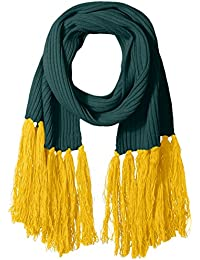 Women's Long Scarf with Contrasting Fringe