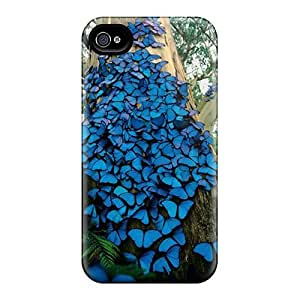 Mialisabblake AoMDwzd2493EZclI Case Cover Skin For Iphone 4/4s (blue Butterflies)
