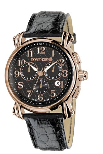 roberto cavalli men s watch r7271672025 in collection anniversary roberto cavalli men s watch r7271672025 in collection anniversary chrono black dial and strap amazon co uk watches