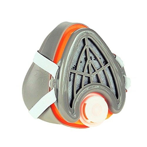 CANHEAL-Dust-Mask-Washable-and-Reusable-4-Active-Carbon-Filters-Included-Multi-Purpose-Particulate-Respirator-Small-Medium-GrayOrange