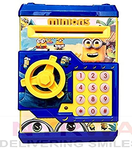 Nyrwana Minion Mini ATM with Electronic Lock & Secret Code to Unlock with  Password
