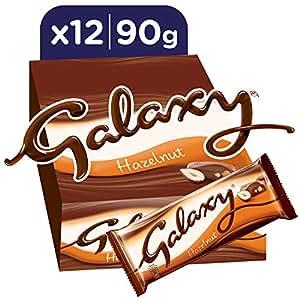 Galaxy Hazelnut Chocolate Bars, 90g x 12