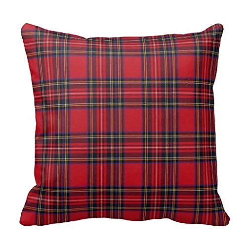 Royal Stewart Tartan Throw Square Pillow Sham Cushion Cover 18X18 isaacob ZA100159044