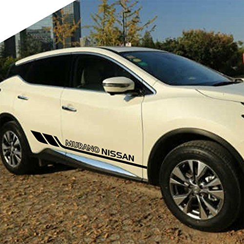 Kaizen Auto Vinyl Sticker Personality Vinyl Side Skirt Decal Whole Body Graphic Decal for Nissan Murano Color Black ()