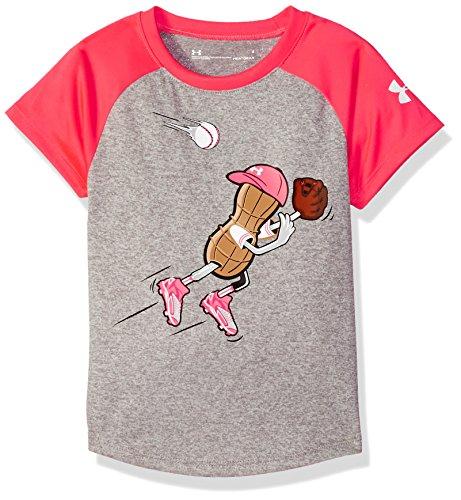 Under Armour Girls Outfielder Peanut Short Sleeve T-Shirt