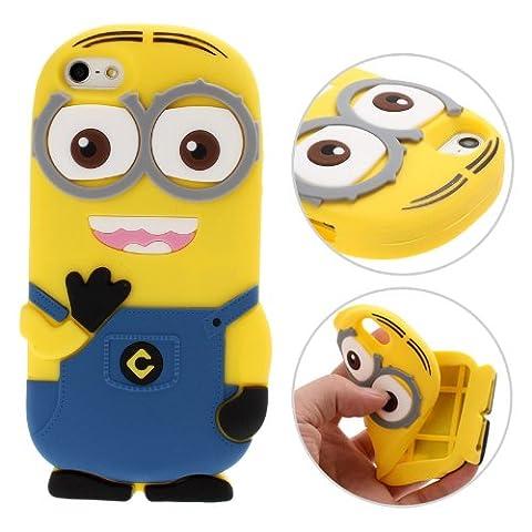 3D Despicable Me II Minions Style Silicone Case for iPhone 5 & 5S (Blue) (Disney Iphone 5s Silicone Case)