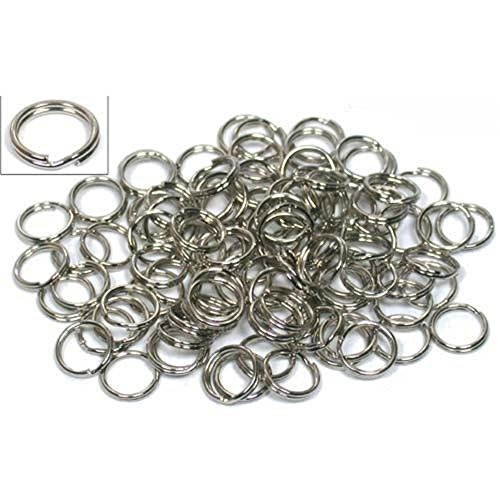 - Kathy store INC Stainless Steel Fishing Split Rings/Various 5mm -15mm Size Split Ring Chain Connectors for Key Rings, Lures Fishing Tackle (Oval Size: 10mm (90lb) 100 Pack)