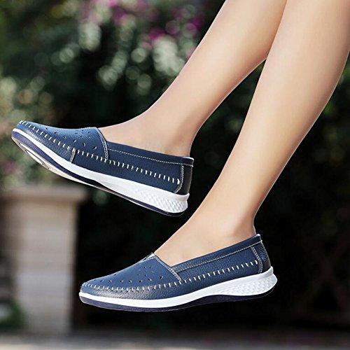 Individuales Guisantes Ocasionales Color 42 2018 señoras de Zapatos cómodos Guisantes Verano Zapatos de tamaño Zapatos Las de Antideslizantes Mujer Azul Zapatos de Zapatos de Zapatos ARSwT01