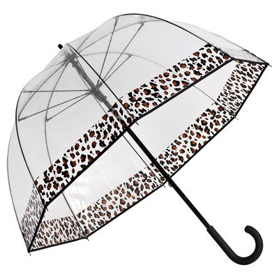 Umbrella Clear Bubble Dome, Rain, Galleria Umbrellas for Kids, Men and Woman (Cheeta Trim, One Size)