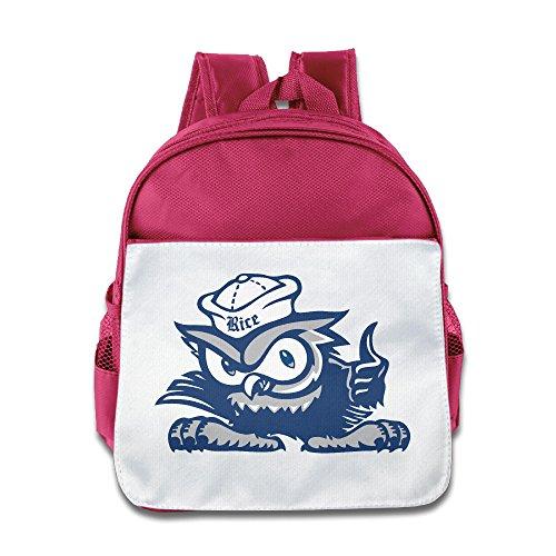 (Rice University Owls Toddler Kids Shoulder School Bag Pink)