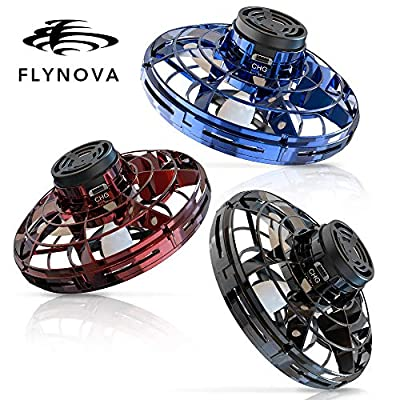BASEIN FlyNova Flying Spinner, 2020 Upgraded Hand Operated Drones for Kids or Adults - UFO Flying Toy with 360° Rotating and Shinning LED Lights (3pcs): Sports & Outdoors