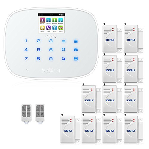 KERUI W193 Wireless 3G WIFI PSTN Burglar Security Alarm System -RFID Card GSM Touch Keypad Color Display DIY Kit Auto Dial Free APP Remote Control for Home KERUI