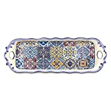 Alcoa Arte Hand-painted Portuguese Decorative Ceramic Serving Tart Tray