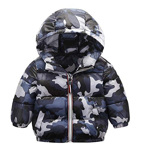 XoiuSyi,Kids Baby Girl Boy Winter Hooded Coat Cloak Camouflage Jacket Thick Warm Outerwear -