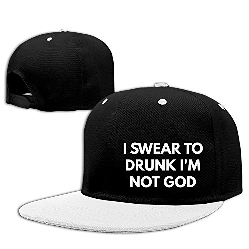 Im Drunk Green T-shirt (I Swear To Drunk I'm Not God Hip Hop Baseball Caps Breathable Flat Bill Plain Snapback Hats White)