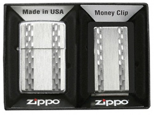 - Zippo Emblem/Money Clip Set (Silver, 4 1/2 - Inch x 5 1/2 - Inch)