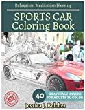 SPORTS CAR Coloring book for Adults Relaxation  Meditation Blessing: Sketches Coloring Book 40 Grayscale Images