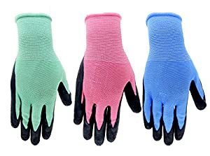 6 pair pack gardening gloves for women and men for Gardening gloves amazon